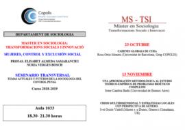 (Català) Seminaris en el Màster de Sociologia, Transformacions Socials i Innovació