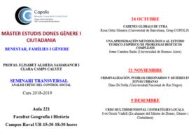 Seminaris en el Màster de Dones, Gènere i Ciutadania
