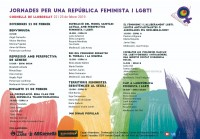 Elisabet Almeda y Clara Camps en la mesa inaugural de las jornadas por una república feminista y LGBTI