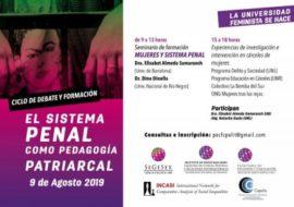 Elisabet Almeda y Dino di Nella en el Cicle de Debat i Formació «El sistema penal com a pedagogia patriarcal»