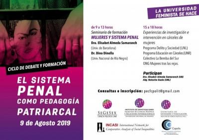 Elisabet Almeda y Dino di Nella en el Ciclo de Debate y Formación «El sistema penal como pedagogía patriarcal»