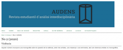 Interview with Elisabet Almeda at the Revista Audens