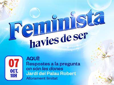 """Charla """"AQUÍ! Respuestas a la pregunta donde están las mujeres?"""", el 7 de octubre en el Palau Robert"""