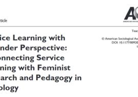 Miembras de COPOLIS publican sobre Aprendizaje Servicio y género