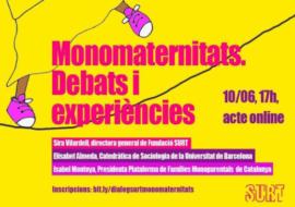 """Elisabet Almeda participa en el debate """"Monomaternidades. Debates y experiencias"""""""