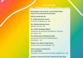 Acto Oficial para el día internacional del orgullo LGTBI en la UB