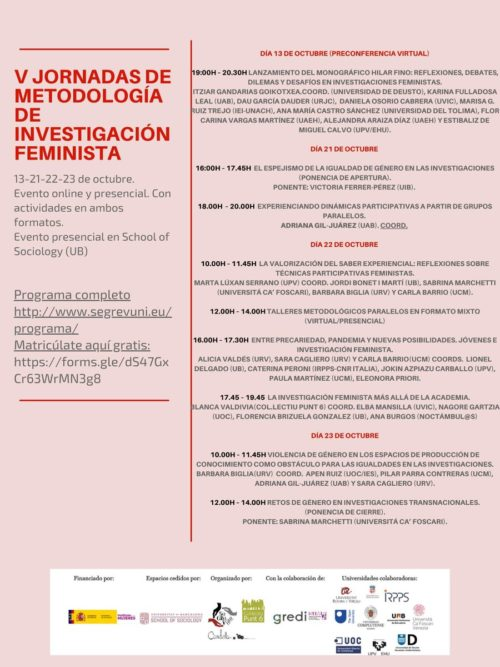 V Conference on Feminist Research Methodology: Rethinking Knowledge Production Processes in (Post) Pandemic Times