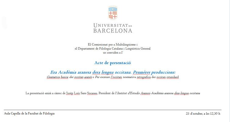Primeres edicions de l'Acadèmia aranesa de la llengua occitana