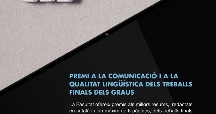 II Premi a la comunicació i a la qualitat lingüística dels treballs finals dels graus de la Facultat de Matemàtiques i Informàtica