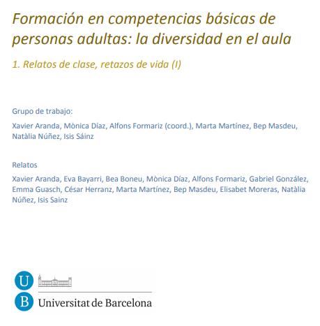 Formación en competencias básicas de personas adultas: la diversidad en el aula 1