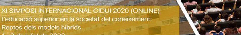 XI SIMPOSI INTERNACIONAL CIDUI 2020