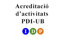 Acreditació activitats PDI-UB