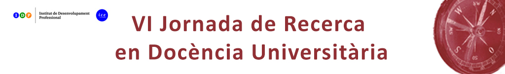 VI Jornada de Recerca en Docència Universitària