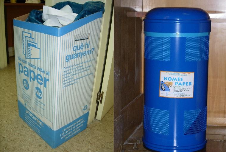 contenidors de paper