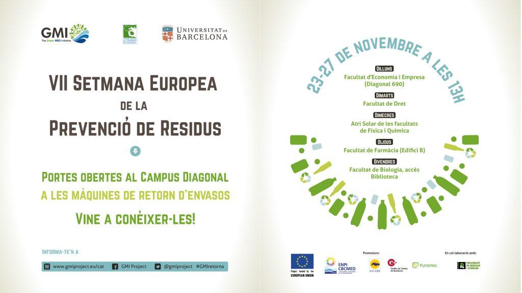 VII setmana europea de la prevencio de residus. Portes obertes.