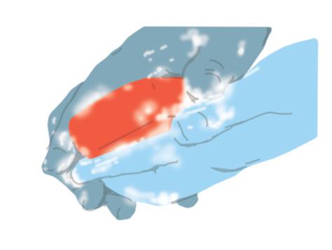 Rentar mans amb sabó