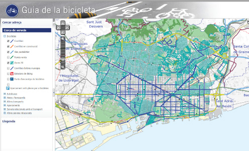 Mapa carrils bici