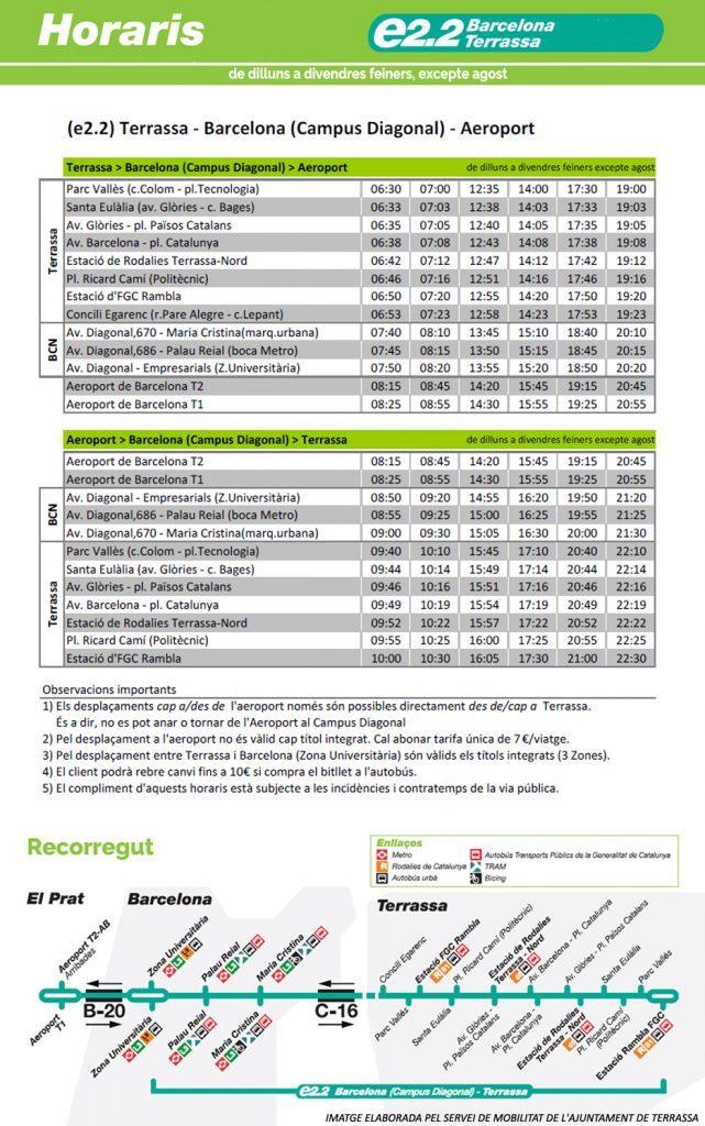 horaris de barcelona terrassa