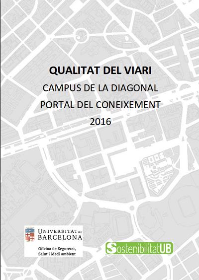 Portada Qualitat viari campus Diagonal UB 2016