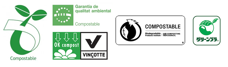 distintiu identificatiu productes compostables