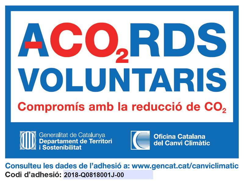 etiqueta representativa del programa ac02 rds voluntaris compromis amb la reduccio de c02