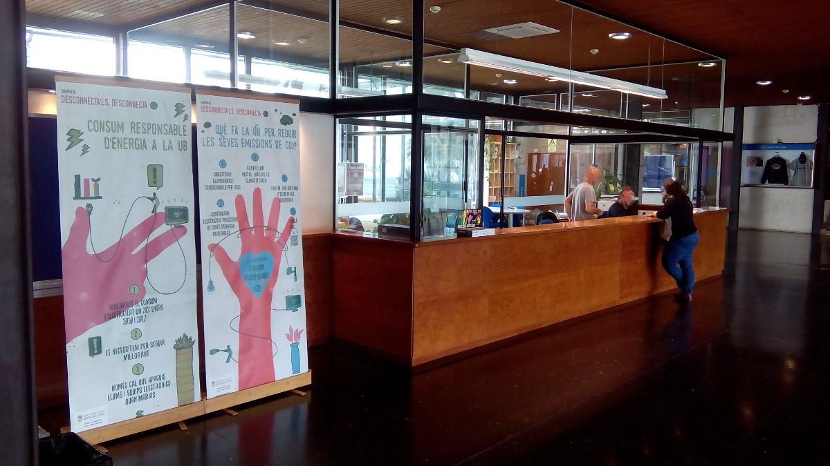 exposició dels cartells a la facultat de dret