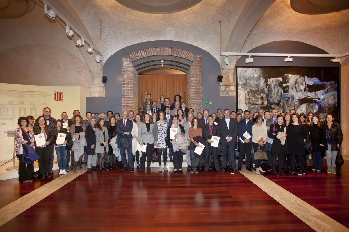 Representants de les organizacions que van rebre els certificats d´acord voluntaris de co2