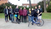 Participants a la cursa de transports de la Facultat de Biologia 2019