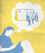 Noia pensant frases pel calendari