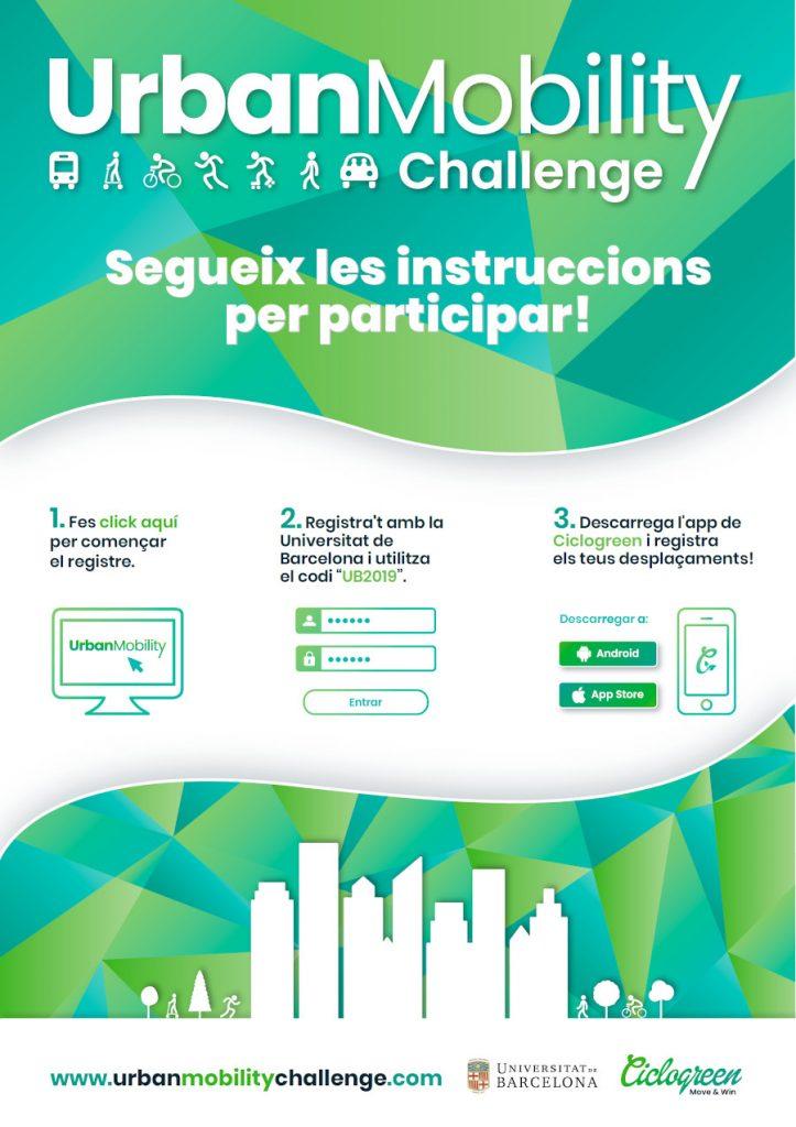 Instruccions per participar a l'Urban Mobility Challenge 2019