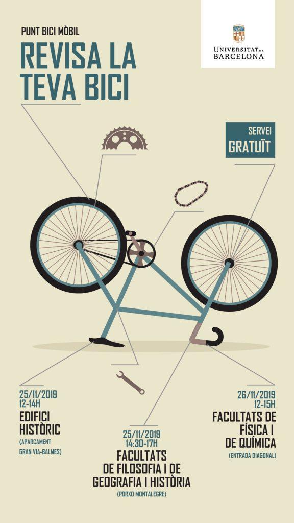 Cartell Punt Bici UB mòbil novembre 2019