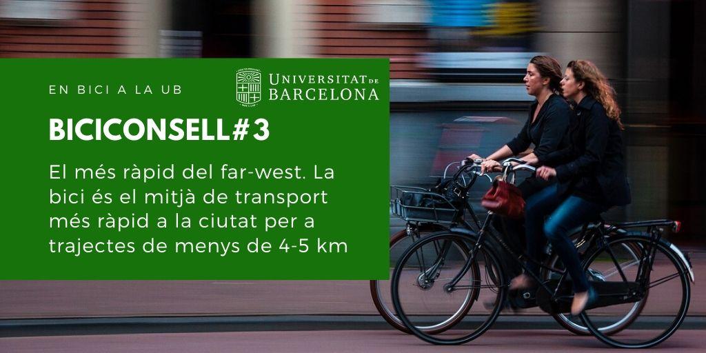 El més ràpid del far-west. La bici és el mitjà de transport més ràpid a la ciutat per a trajectes de menys de 4-5 km.