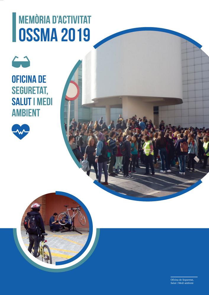 Portada de la memòria d'activitat OSSMA 2019