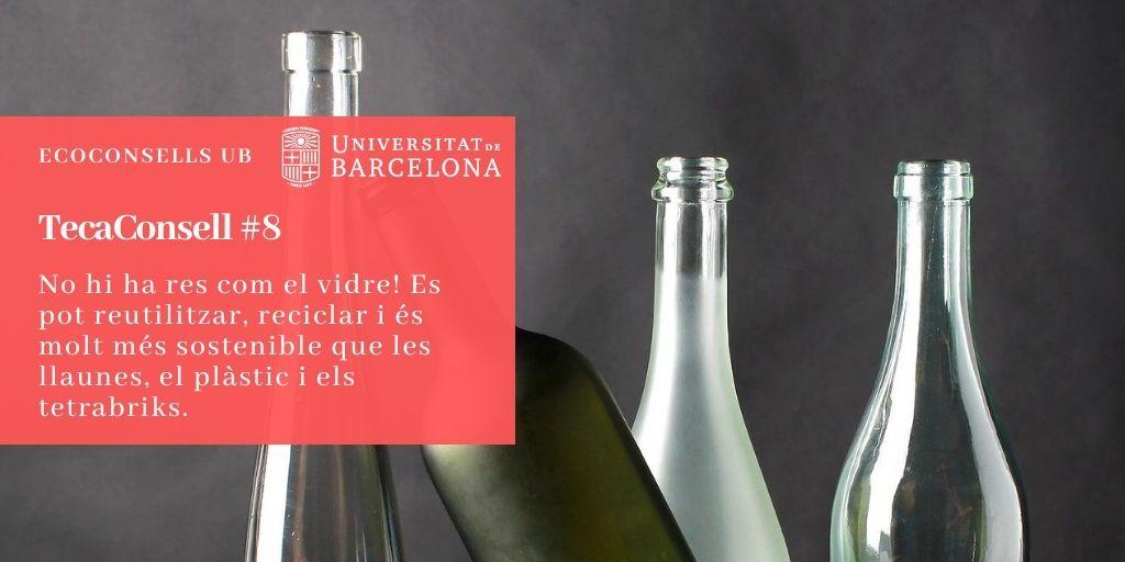 No hi ha res com el vidre! Es pot reutilitzar, reciclar i és molt més sostenible que les llaunes, el plàstic i els tetrabriks