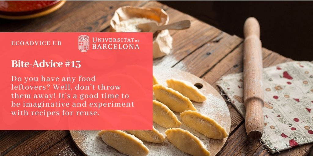 Do you have any food leftovers? Well, don't throw them away! It's a good time to be imaginative and experiment with recipes for reuse.