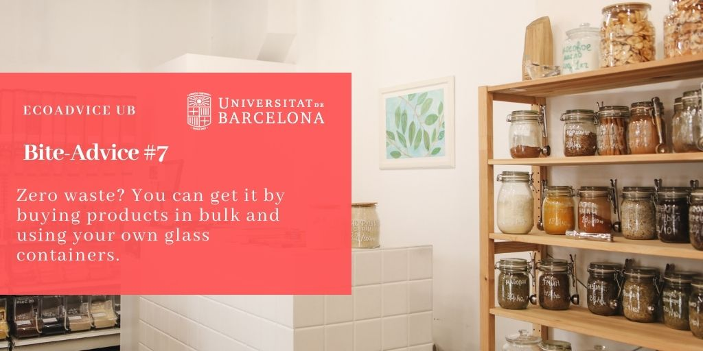 Zero waste? You can get it by buying products in bulk and using your own glass containers.