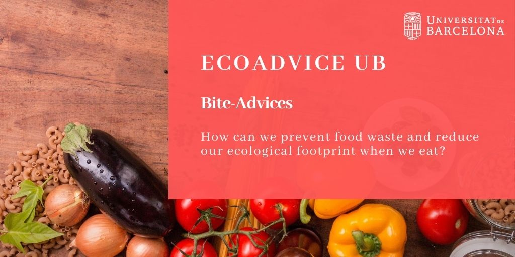 How can we prevent food waste and reduce our ecological footprint when we eat?