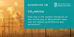 How big is the carbon footprint of the University of Barcelona? How can we reduce greenhouse gas emissions?