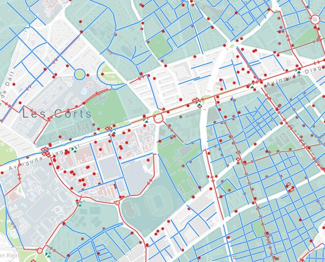 Plànol carrils bicicleta Barcelona
