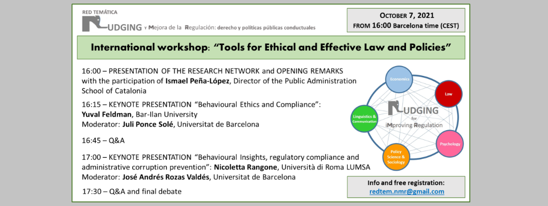 Seminari virtual «Tools for Ethical and Effective Law and Policies»