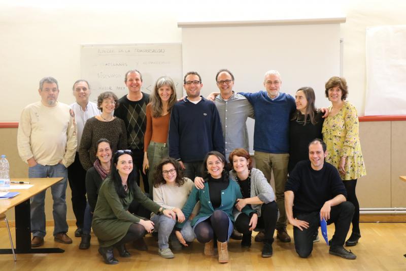 Imatge de grup d'alguns dels assistents a la VI Jornada d'Innovació Docent