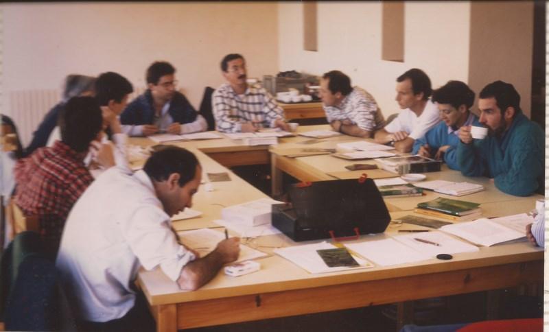 1989 Montesquiu, taula de feina