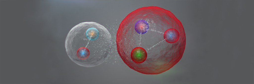 Possible disposició dels quarks en una partícula pentaquark