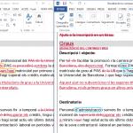 Comparació a nivell de paraules i a nivell de caràcters