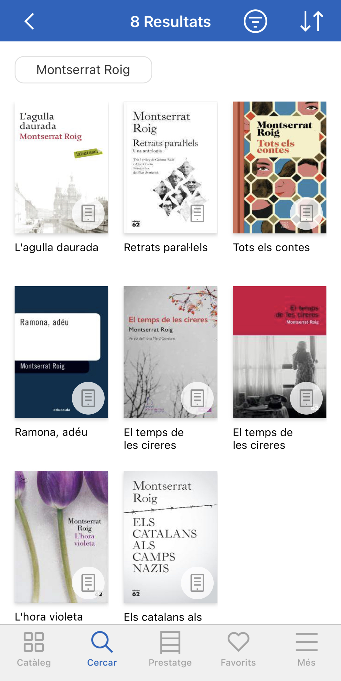 Els títols de Montserrat Roig