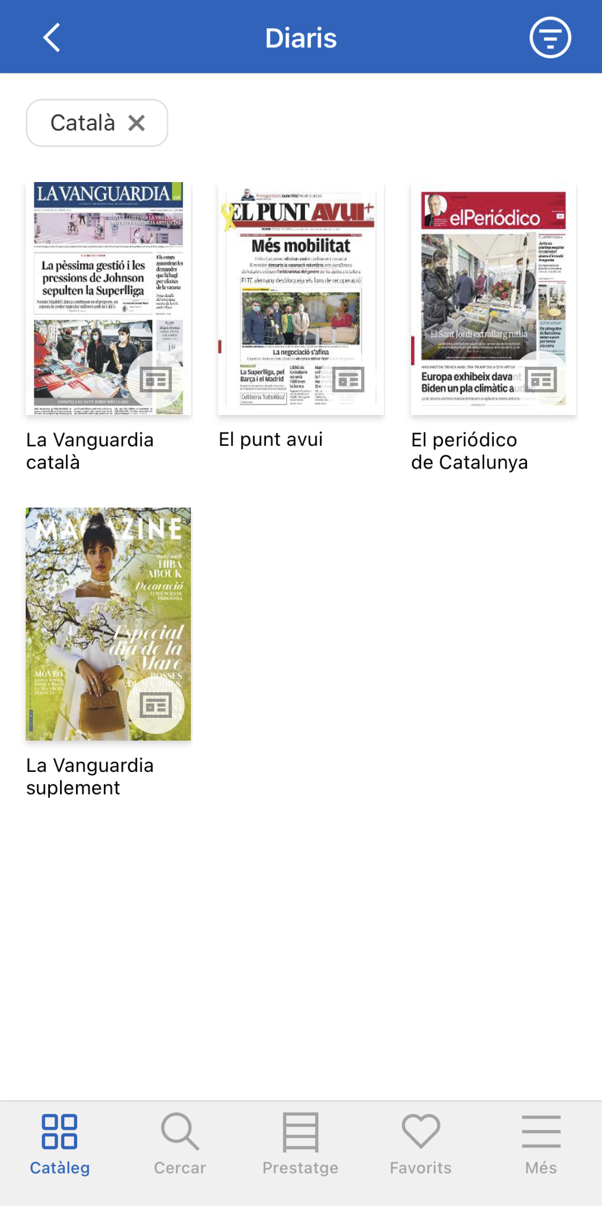 Els diaris en català