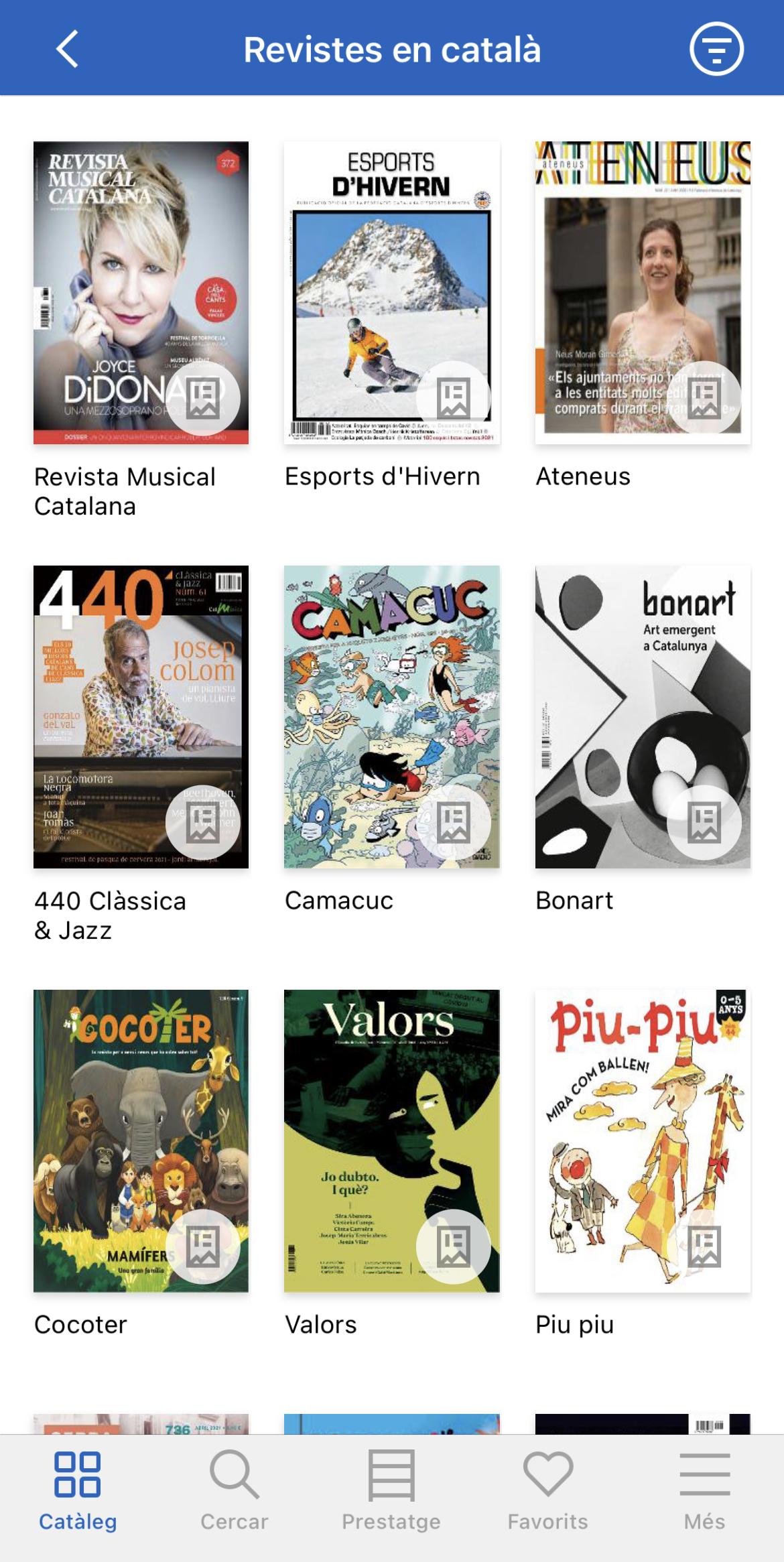 Les revistes en català