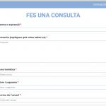 Formulari de consulta personalitzada