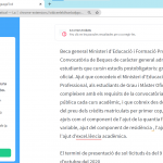 Mostra dels errors detectats pel LanguageTool
