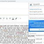 Opcions d'activació i desactivació del LanguageTool